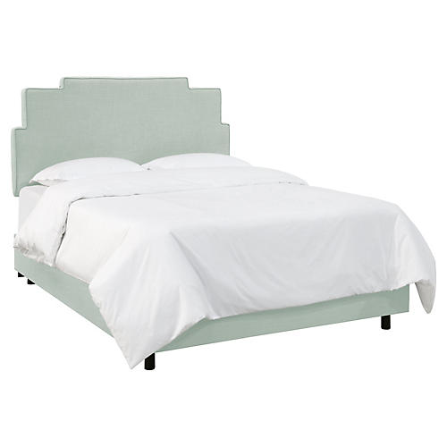Paxton Bed, Mint Linen
