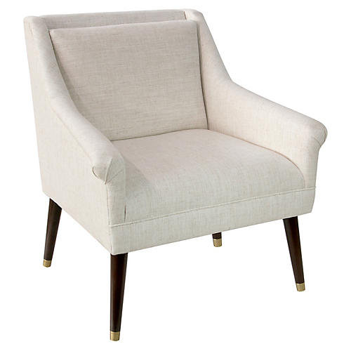 Carson Accent Chair, Talc