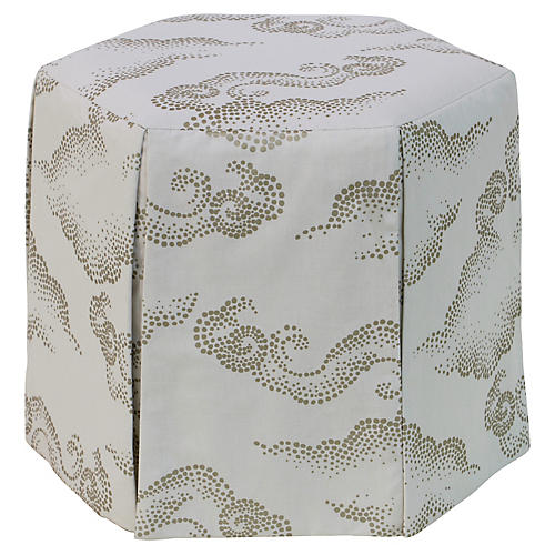 Savannah Skirted Ottoman, Clouds