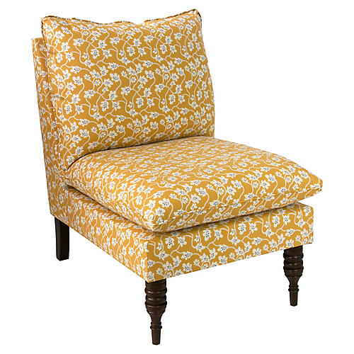 Daphne Slipper Chair, Ochre Vine