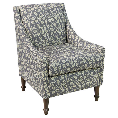 Holmes Accent Chair, Slate Vine