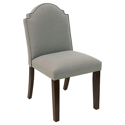 Elloree Side Chair, Gray Linen