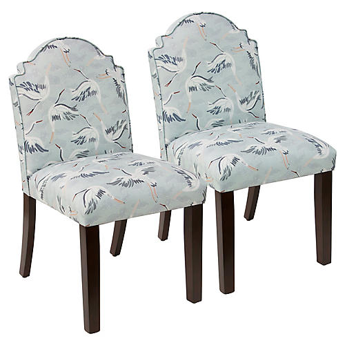 S/2 Elloree Side Chairs, Cranes