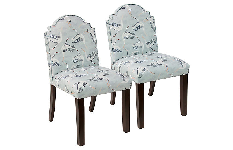 Set of 2 Elloree Side Chairs - Cranes