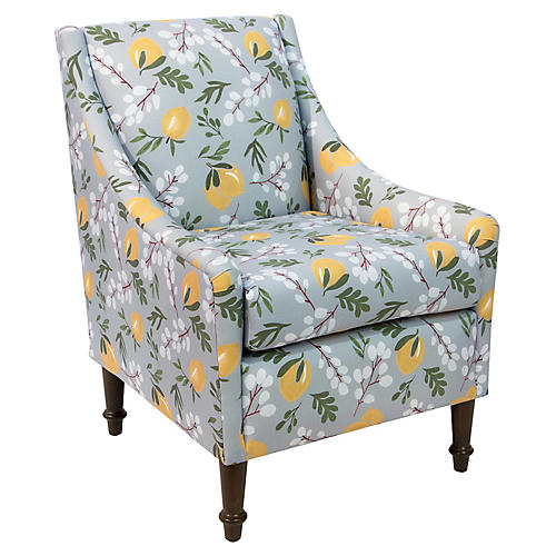 Holmes Accent Chair, Lemon Blossom Linen