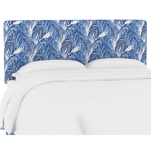 Leland Headboard, Blue Palm