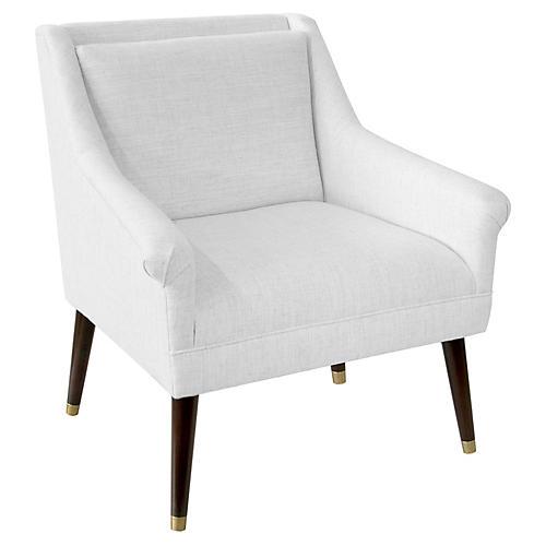 Carson Accent Chair, White