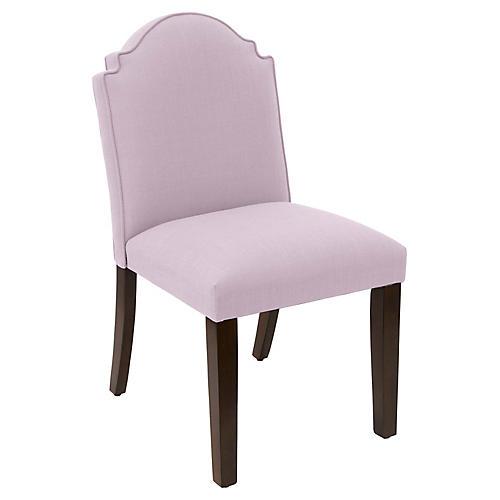 Elloree Side Chair, Lilac Linen