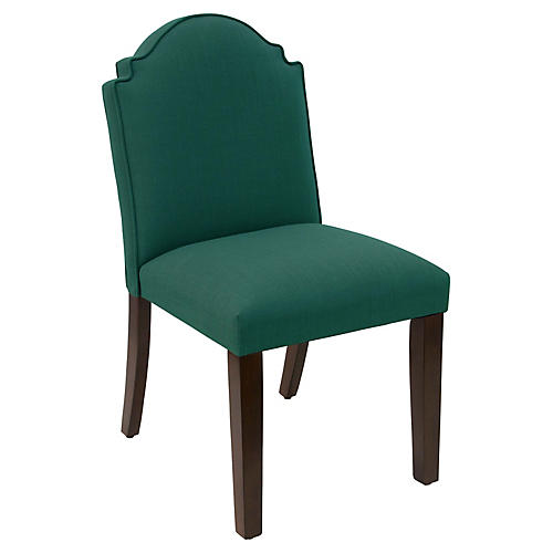 Elloree Side Chair, Forest Linen