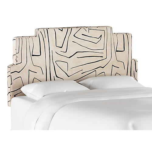 Paxton Headboard, Sand/Black