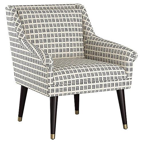 Carson Accent Chair, Window Dot