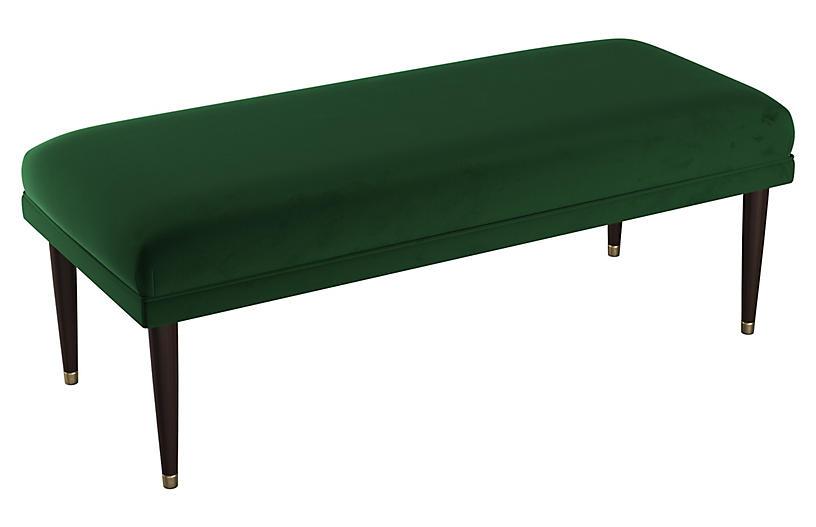 Alameda Bench, Emerald Velvet