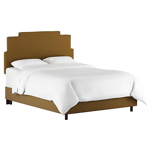 Paxton Bed, Sand Velvet