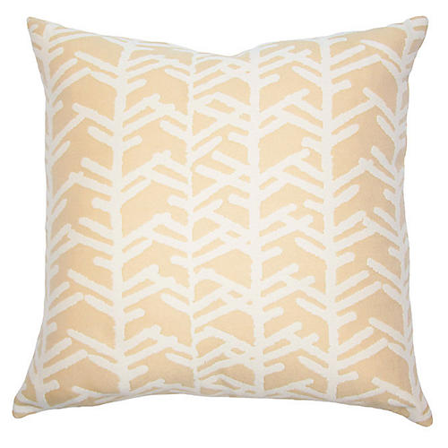 Aruba Twigs Outdoor Pillow, Beige