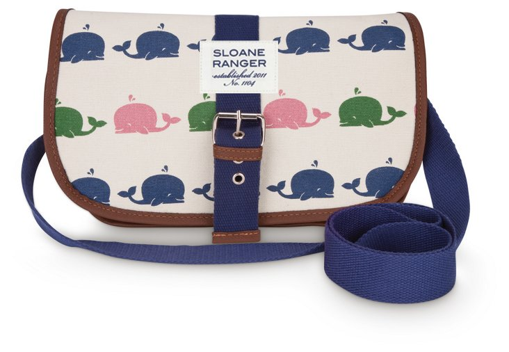 Saddle Crossbody Bag, Whales