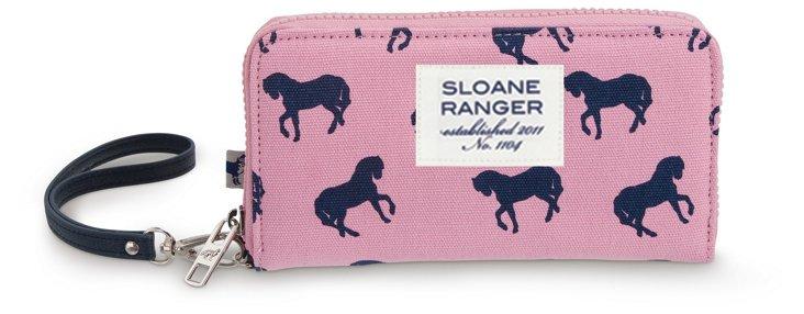 Medium Canvas Smartphone Wallet, Horses