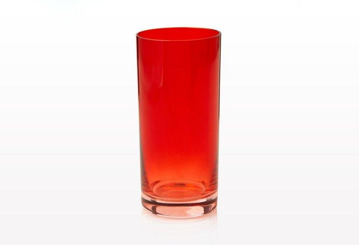 S/6 Cooler Glasses, Ruby