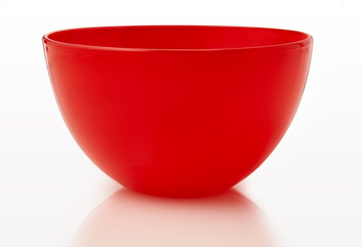 S/2 Large Bowls, Strawberry