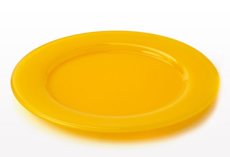 S/4 Glass Charger Plates, Sunshine
