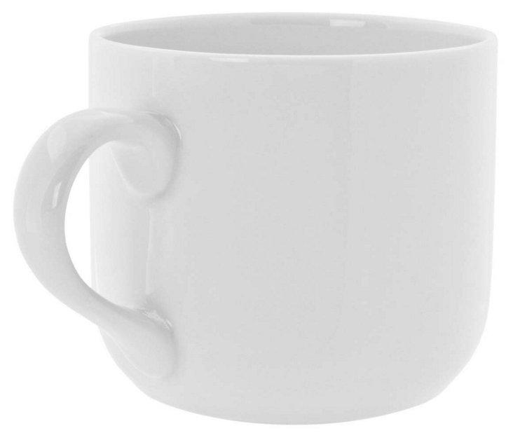 S/6 Porcelain Latte Mugs