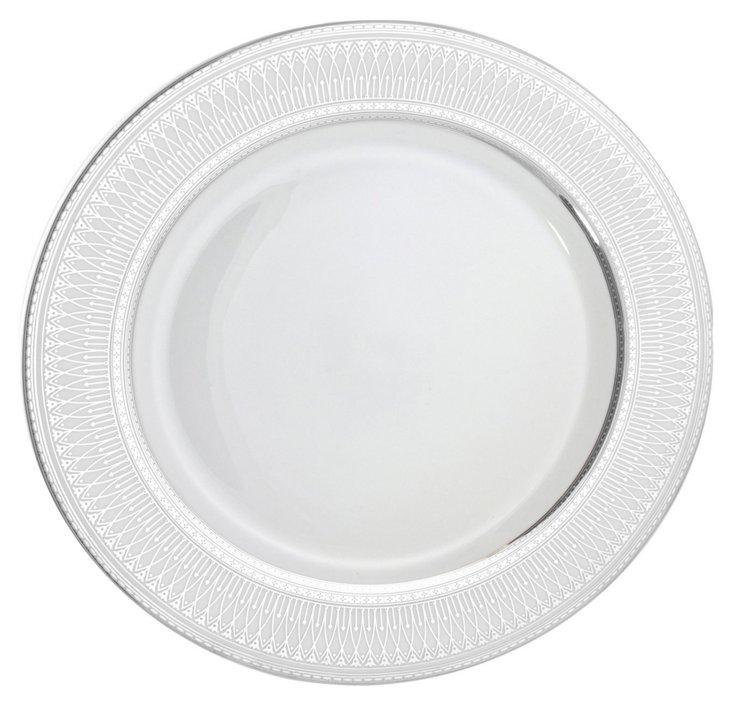 S/6 Iriana Dinner Plates, Silver