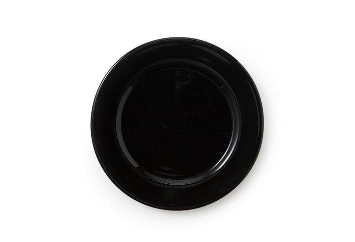 S/4 Glass Charger Plates, Caviar