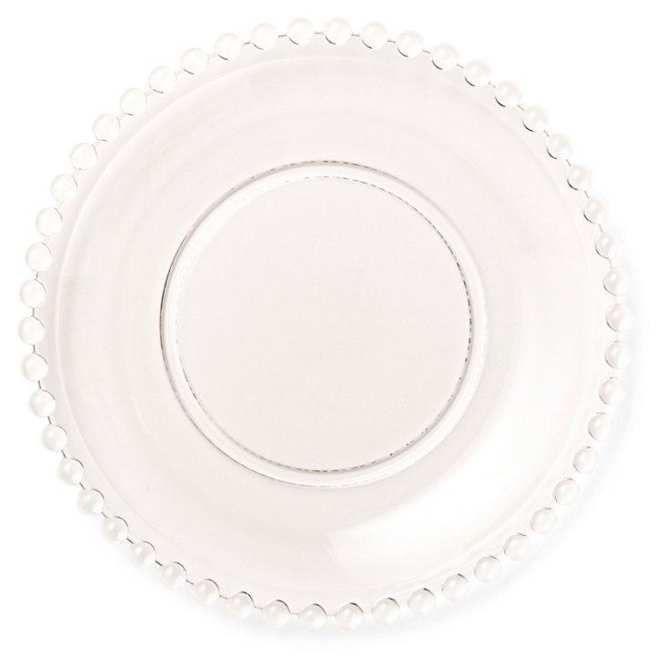 S/6 Belmont Glass Dessert Plates, Clear