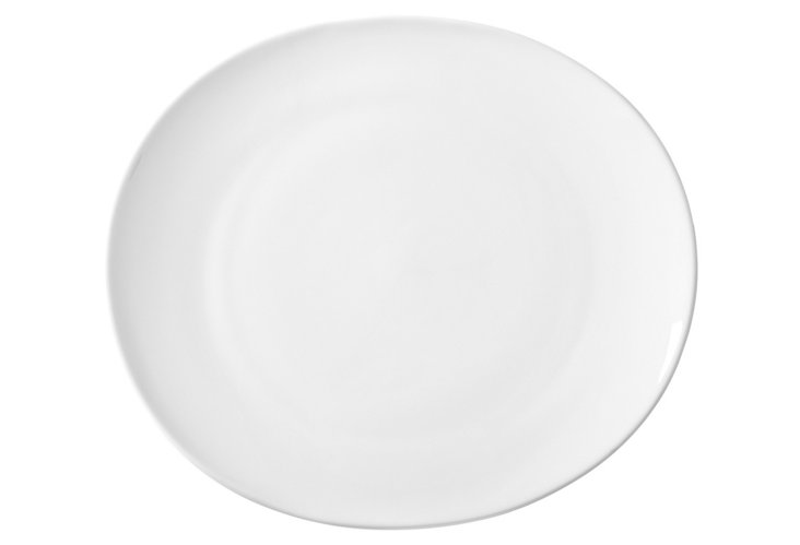 S/6 Royal Oval Dinner Plates, White