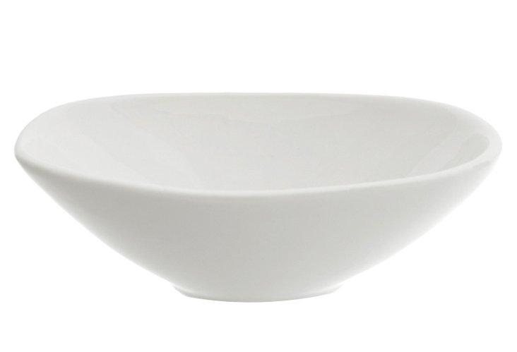 S/6 Royal Oval Bowls, White
