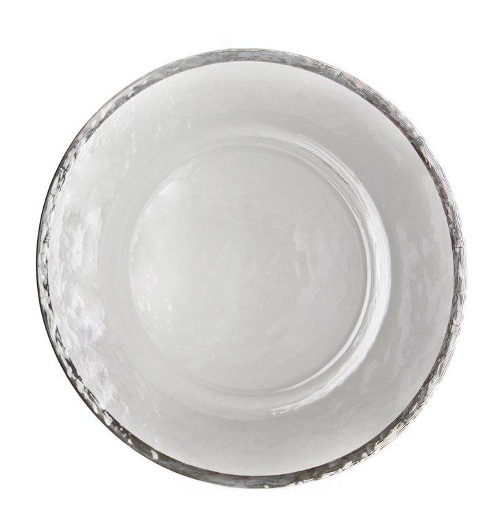 S/6 Alpine Salad/Dessert Plates, Silver