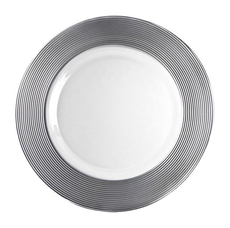 S/6 Saturn Salad Plates, Silver
