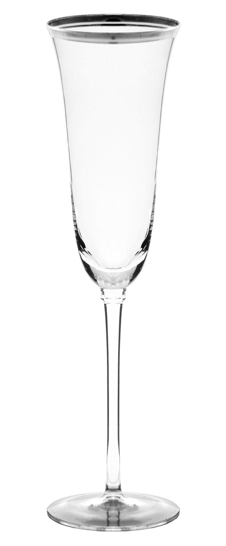 S/8 Windsor Champagne Flutes, Silver