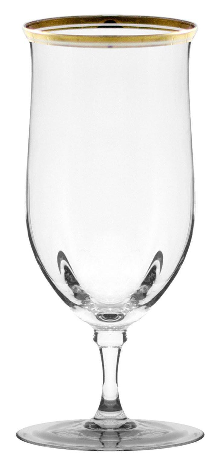 S/4 Windsor Water Goblets, Gold