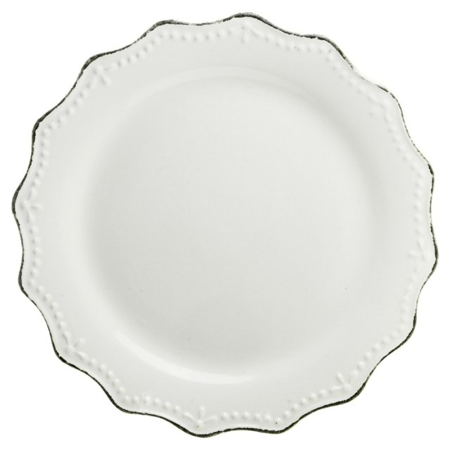 S/6 Oxford Dinner Plates, Cream