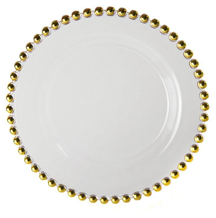 S/4 Belmont Plates, Gold