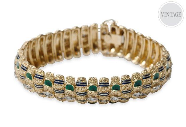 Enameled Gold Bracelet