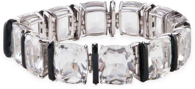 Seaman Schepps Crystal & Onyx Bracelet