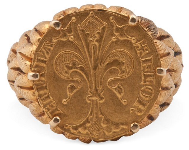 Italian Gold Men's Ring