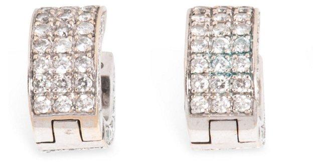 Diamond Huggie-Style Hoop Earrings