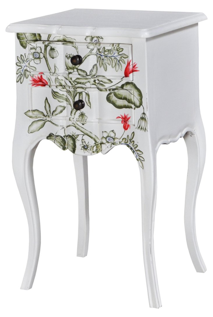 Cole Bedside Table, White