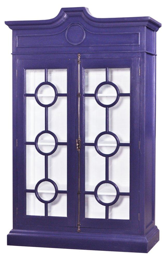 Burlington Display Cabinet, Royal Blue