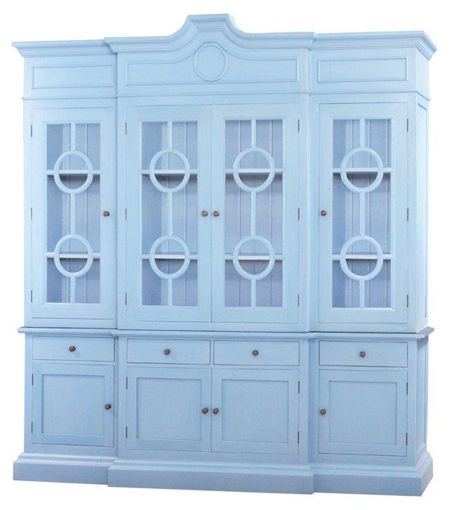 Burlinton Large Bookcase, Light Blue
