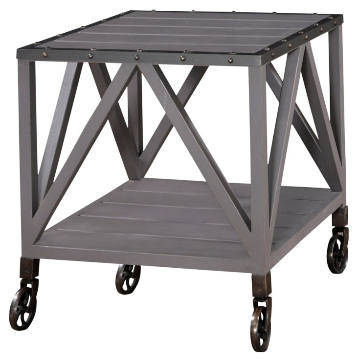 Balfour End Table, Dolphin Gray