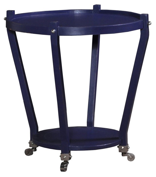 Metro Side Table, Royal Blue