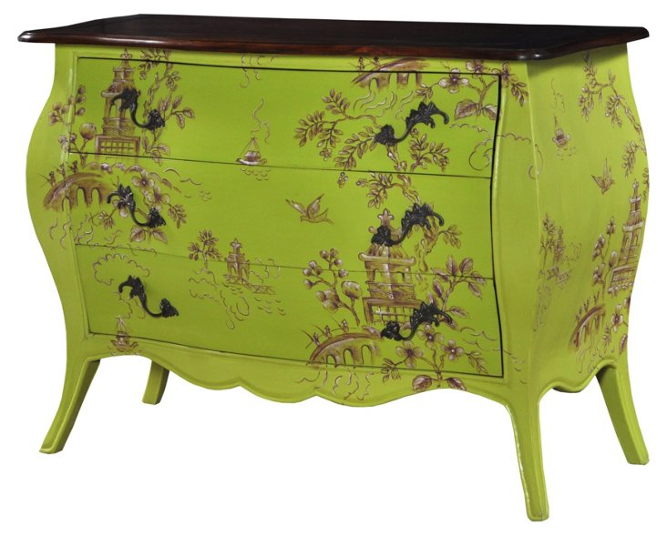 Ava Chest, Lime Green/Brown