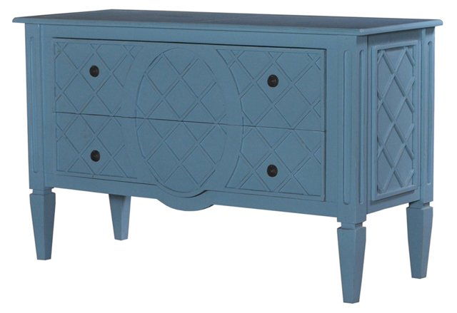 Dauphine Dresser, Aqua Blue