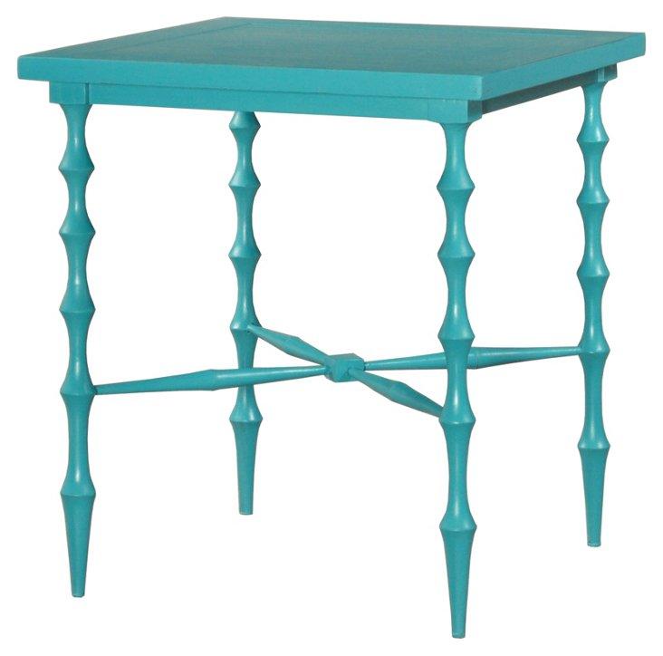 Horn Square Table, Ocean Blue