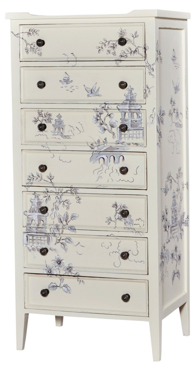 Tall Pimlico Dresser, Light Gray
