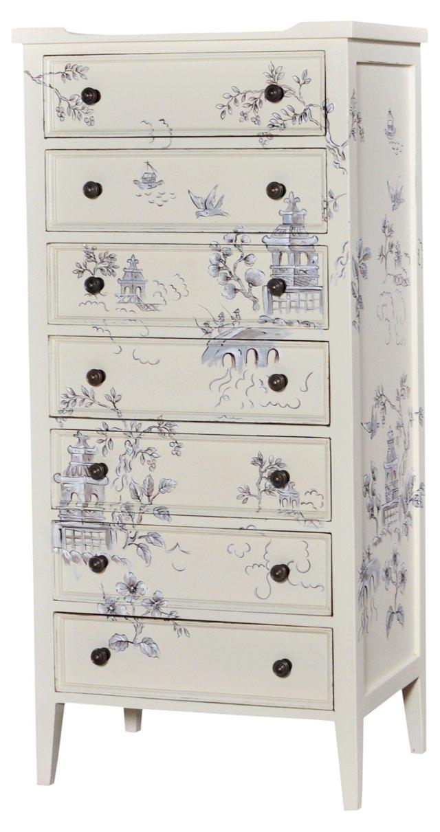 Tall Pimlico Dresser, Light Gray