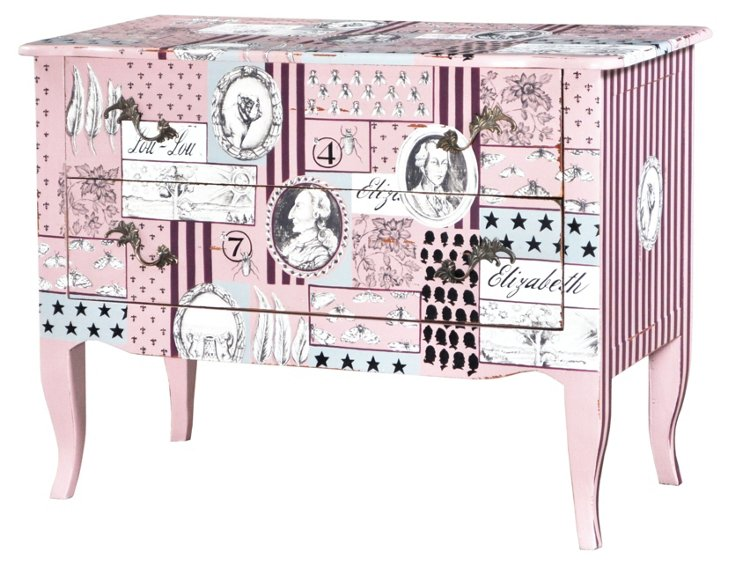 Florence Commode, Pink